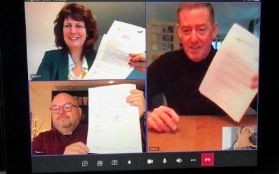 Ondertekening intentieovereenkomst nieuwe veerverbinding